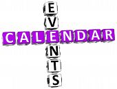 3D Callendar Events Crossword