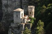 picture of sicily  - The Pepoli castle of Erice - JPG