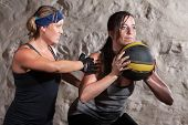 Boot Camp Workout Training With Medicine Ball