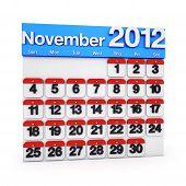 Calendar November 2012