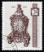 Postage stamp Austria 1970 Bracket Clock, 1720-60