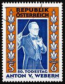 Postage stamp Austria 1995 Anton von Webern, Composer