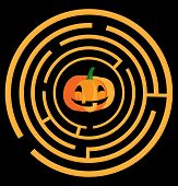 Maze With Pumpkin