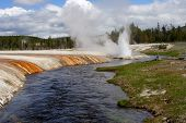 Geyser River Yellowstone