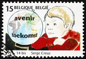 Postage stamp Belgium 1993 Globe and Child