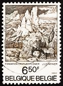 Postage stamp Belgium 1976 St. Jerome in the Mountains, by Le Patinier