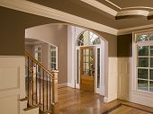 Luxury Home Entranceway With Staircase