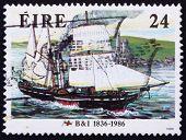 Postage stamp Ireland 1986 Steamer Severn, 1836