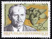 Postage stamp Austria 1976 Viktor Kaplan, Inventor of Kaplan Turbine
