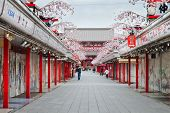 Nakamise Street in front of Sensoji Temple