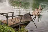 Broken Wooden Boat Dock