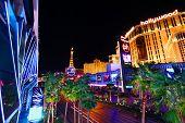 Luces de la franja de las Vegas