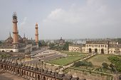 picture of imambara  - Landscaped gardens inside the 18th Century Bara Imambara complex in Lucknow Uttar Pradesh India