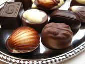 Belgium Chocolates On A Silver Plate