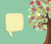 Diversity Tree Hands Template