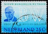Postage stamp Netherlands 1970 Prof. E. M. Meijers, New Civil co
