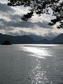 Sun Reflecting Off Lake\'s Surface