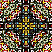 Seamless stained glass pattern