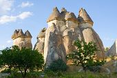 stock photo of chimney rock  - Cappadocia is a region of exceptional natural wonders in Nevsehir Province - JPG