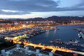 Puerto De Mazarron At Dusk. Spain