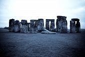 picture of british culture  - Stonehenge in Wiltshire England on the Salisbury Plain in Winter - JPG