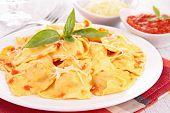 ravioli and basil