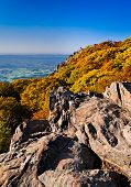 Autumn View Of Stony Man Summit And The Shenandoah Valley, From The Appalachian Trail In Shenandoah
