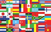 Collection Of Flags. Vector Design. poster
