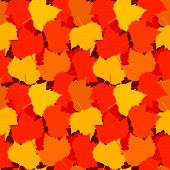 Autumn Leaves Seamless Background.eps