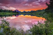 Evening At Oxbow Bend