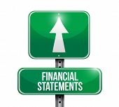 Financial Statements Road Sign Illustrations