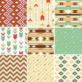 Seamless geometric pattern in aztec style. Ideal for printing onto fabric and paper or scrap booking.
