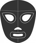 símbolo de la máscara de lucha libre mexicana