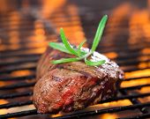 pic of braai  - closeup of steak on a grill - JPG