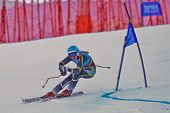 PATSCHERKOFEL, AUSTRIA - JANUARY 15 Nora Grieg Christensen (Norway) places 4th in the Super-G of the