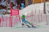 PATSCHERKOFEL, AUSTRIA - JANUARY 15 Hannes Zingerle (Italy) places 5th in the Super-G of the Men's S