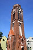 Tower Of Church Of Martin Lutherin Swinoujscie, Poland