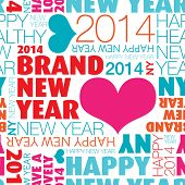 Seamless happy new year 2014 background pattern in vector