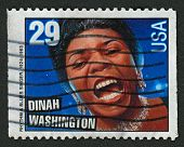 USA - CIRCA 1993: A stamp printed in USA shows image of the Dinah Washington, born Ruth Lee Jones (A