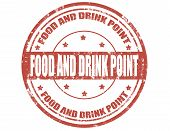 Food And Drink Point Stamp