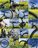Постер, плакат: Велосипед коллаж