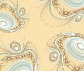Abstract fractal background decoration in  beige color