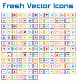 Fresh Vector Icons (square Version)
