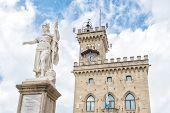 Liberty Statue And Public Palace, San Marino Republic,