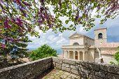 Summer Shot Of Of Basilica Del Santo, San Marino