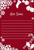 Letter to Santa Clause for Christmas