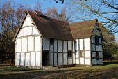 Restored medieval hall rear view