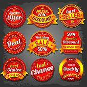 Set of  luxury vector sale labels.