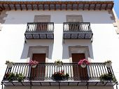 Calpe. Mediterranean Spanish Coastal City Historic Old Town Center