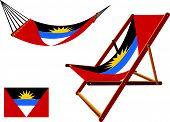 Hamaca de antigua y Barbuda y conjunto tumbona